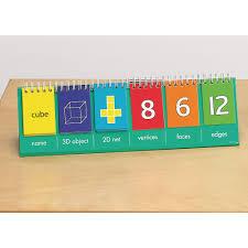 2d 3d Geometric Shape Flip Chart Pupil Size Pack 10