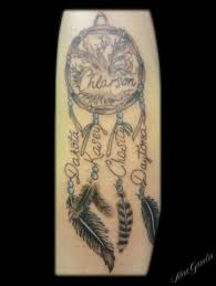 Dream Catcher Tattoo With Names Name and family tree dreamcatcher Tattoo by Nina Gaudin of 41th 2