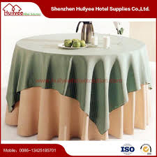 100 polyester wedding round table cloth