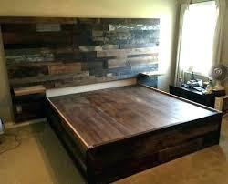 Wood Bed Frame King Reclaimed Wood Bed Frame King Platform Within ...
