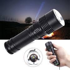 Đèn pin 15000 Lumens zoom T6 LED 18650 dùng ban đêm
