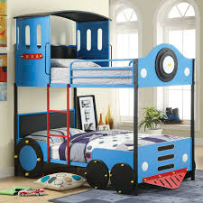 Furniture of America Blue Train Locomotive Metal Youth Bunk Bed - Free  Shipping Today - Overstock.com - 16505521