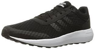 adidas shoes black and white. adidas neo men\u0027s cloudfoam race running-shoes, black/black/white, 10 shoes black and white