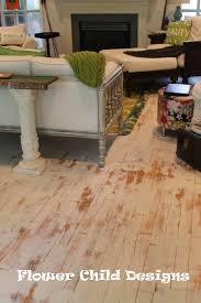 chalk painted wood floor distressed with sanding finished with hemp oil