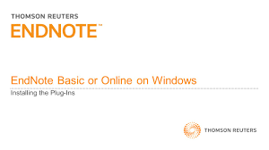 Work With Ms Word Endnote Online Endnote Basic Library Guides
