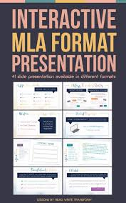 Mla Format Citation And Works Cited Interactive Presentation