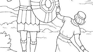 David And Goliath Coloring Page And David And Goliath Coloring Pages