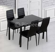 dining table with 4 or 6 chairs black for clearance s