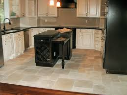 Tiled Kitchen Floors Gallery Open Shelvses Rack Wall Mounted Round White Bar Stool Areas Beige