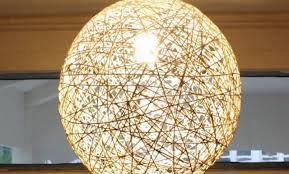 DIY String lights how to make pendant string decor light (2) ...