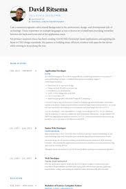 Application Developer Resume Samples Visualcv Resume Samples Database