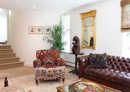 Living Room With Chesterfield Sofa Minimalist Modern Living Room Interior Design Presenting Dark