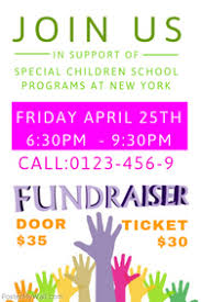 Fundraiser Wording For Flyer Customize 1 300 Fundraising Poster Templates Postermywall