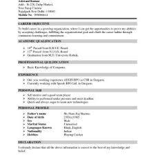 Certificate Vitae Format Best Of 9 Curriculum Vitae Cv Example Fresh ...