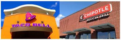 battle of tex mex fast food taco bell vs chipotle fast food menu s