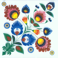 Flower Printed Paper Decoupage Paper Napkins Of Polish Folk Pattern Flowers