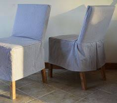 easiest parson chair slipcovers diy can use this to make floor length ones too
