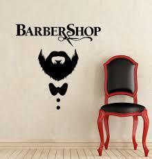 <b>Barber Shop</b> Wall Stickers Vinyl Scissors <b>Mustache Haircut</b> Wall ...