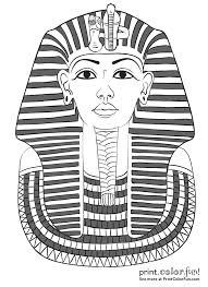 King Tut Coloring Page Awesome Ancient Egypt King Tut Coloring ...
