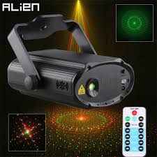 Us 34 99 Alien Remote Rg 8 Patterns Mini Laser Light Projector Dj Disco Party Holiday Xmas Dance Sound Activated Stage Lighting Effect In Stage