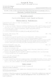General Maintenance Resume Delectable Maintenance Tech Resume Sample Of Maintenance Resume General