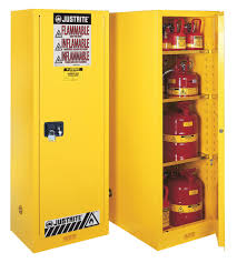 Yellow Flammable Cabinet 1 Self Close Door 65x 23 1 4x 18 3 Shelves Yellow