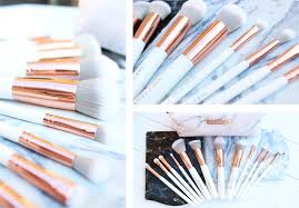marble makeup brushes. marbleous-brushes-marble-makeup-rosegold-spectrum marble makeup brushes u