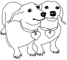 Small Picture Dog Color Pages Printable Dachshund With Puppies Coloring Page