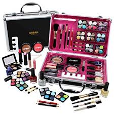 professional vanity case cosmetic make up urban beauty box travel carry gift 57 piece storage organizer