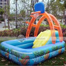 above ground inflatable pool.  Above Hoomool Baby Inflatable Basketball Above Ground Swimming Pool On