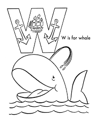 Small Picture ABC Alphabet Coloring Sheets ABC Whale Animals coloring page