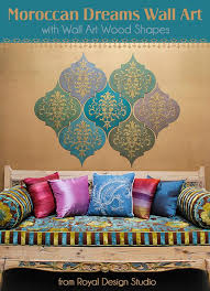 create custom wall art with wall art wood shapes and stencils from royal design studio on custom wall art wood with how to stencil moroccan dreams wall art wood shapes wall decor
