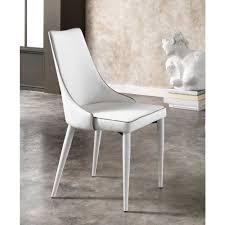 Esstischstuhl In Weiß Grau Kunstlederbezug 2er Set