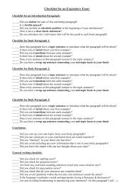Does An Essay Have Paragraphs Checklist For Body Paragraphs In A Personal Response Essay