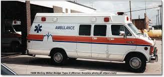 dodge b series vans ram van and ram wagon 1988 mccoy miller ambulance