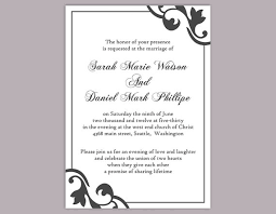 DIY Wedding Invitation Template Editable Word File Instant Download Stunning Invitation Templates Word