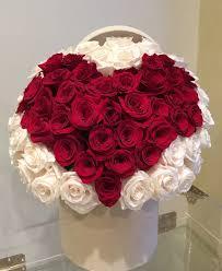 <b>Classic heart shape</b> red and white roses by Laazati