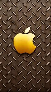 Free Download Gold Apple Logo Iphone 6 Wallpapers Hd
