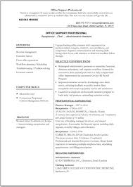 Free Resume Templates Example Good Template Administrative