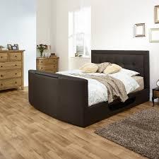 jenson tv leather bed frame  bed frames  carpetright