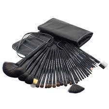 32pcs makeup brushes set professional black hand to make up brush kit with case foundation kabuki blending powder mudger beauty in eye shadow applicator