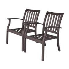 Beautiful Aluminum Stackable Patio Chairs Allen Roth Set Of 2 Gatewood Brown Slat And Simple Ideas