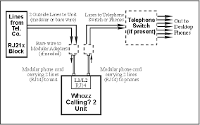 callerid com wc2 series connection diagram