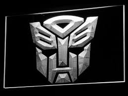 Neon Transformer Sizing Chart Transformers Autobots Icon Led Neon Sign