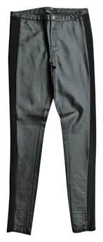 y faux leather skinny pants w zippered ankles never worn material shell 100 polyurethane backing 83 ryon 17 polyester approx measurements