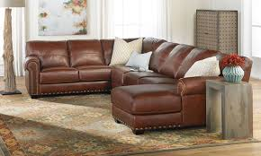 softline o'neal leather sectional sofa with chaise  the dump