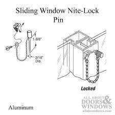 sliding window nite lock pin