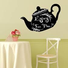 walplus 46x28 cm wall stickers tea pot