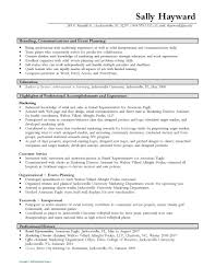 Event Planning Resumes Free Resume Example And Writing Download