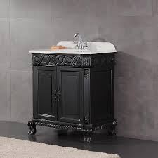 OVE Decors Trent Antique Black Undermount Single Sink Bathroom Vanity with Cultured  Marble Top (Common